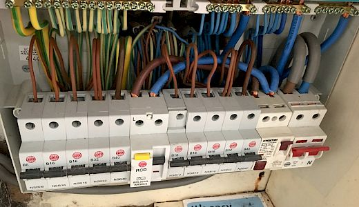 Picture of a residential fuse box